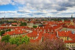 Panorama von Prag, Prag Schloss, HradÄ- irgendwie, Prag, Tschechische Republik Lizenzfreie Stockfotos