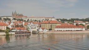 Panorama von Prag Tschechische Hauptstadt stock footage