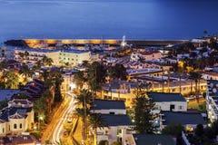 Panorama von Puerto De-La Cruz Acantilados de Los Gigantes Lizenzfreie Stockfotografie