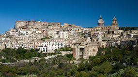 Panorama von Ragusa stockfoto