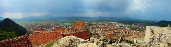 Panorama von Rasnov stockbilder