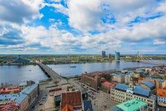 Panorama von Riga Stockfotos