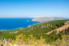 Panorama von Rodes-Insel, Griechenland. stockbild