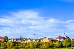 Panorama von Rothenburg ob der Tauber Lizenzfreies Stockbild