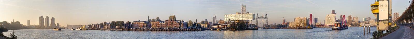 Panorama von Rotterdam stockbilder