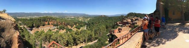 Panorama von Roussillon-Bereich, Frankreich Lizenzfreie Stockfotos