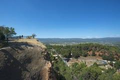Panorama von Roussillon-Bereich, Frankreich Lizenzfreie Stockfotografie
