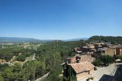 Panorama von Roussillon-Bereich, Frankreich Stockbild