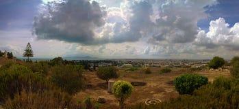 Panorama von Ruinen der alten Stadt von Karthago Stockfotografie