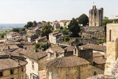 Panorama von Saint Emilion, Frankreich stockfoto