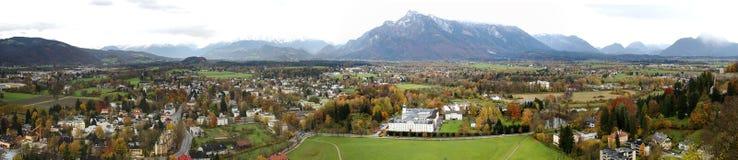 Panorama von Salzburg Austia Stockbild