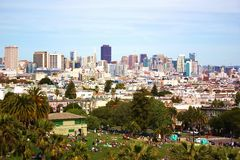Panorama von San Francisco Stockfoto