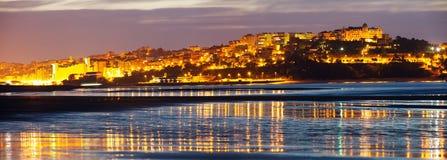 Panorama von Santander von der Bucht stockfotos