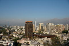 Panorama von Santiago de Chile Lizenzfreies Stockfoto