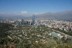 Panorama von Santiago de Chile Stockbild