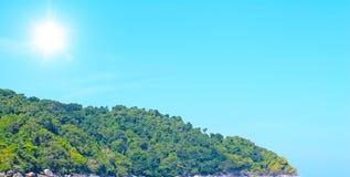 Panorama von schönem mountian Lizenzfreies Stockfoto