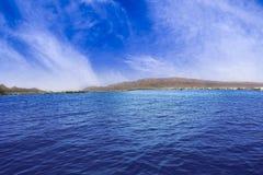Panorama von schöner Ana Sagar Lake in Ajmer, Rajasthan, Indien Stockfotografie
