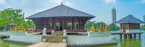 Panorama von Seema Malaka Temple in Colombo stockfotos