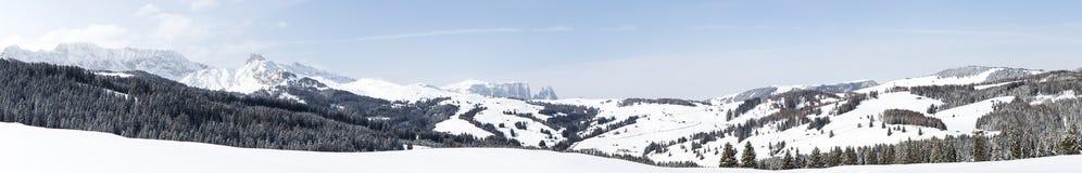 Panorama von Seiser Alm Lizenzfreie Stockfotografie