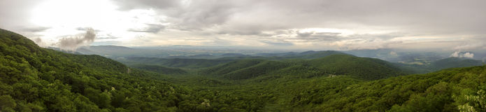 Panorama von Shenandoah Valley Stockbilder