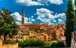 Panorama von Siena stockfotos