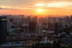 Panorama von Singapur Stockbild