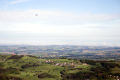 Panorama von Sonntagsberg Stockfoto