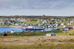 Panorama von St Lawrence, Neufundland stockfotografie