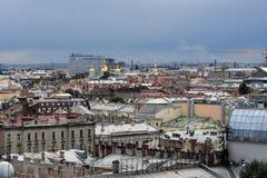 Panorama von St Petersburg, Russland, von der Kolonnade von Heiliges Isaacs-Kathedrale stockfotos
