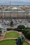 Panorama von St Petersburg, Russland, von der Kolonnade von Heiliges Isaacs-Kathedrale lizenzfreie stockbilder
