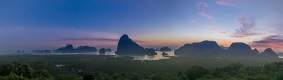 Panorama von Standpunkt Samed Nangshe lizenzfreie stockfotos