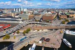 Panorama von Stockholm, Schweden lizenzfreie stockfotos