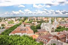 Panorama von Subotica stockbilder