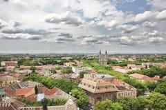 Panorama von Subotica stockbild
