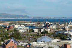 Panorama von Swansea, Wales, Großbritannien lizenzfreie stockfotos