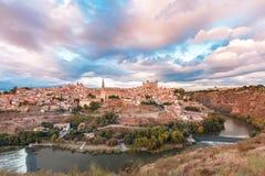 Panorama von Toledo, Kastilien La Mancha, Spanien Stockfotos