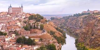 Panorama von Toledo, Kastilien La Mancha, Spanien Lizenzfreie Stockbilder