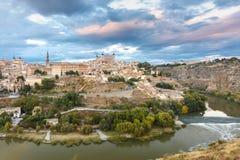 Panorama von Toledo, Kastilien La Mancha, Spanien Lizenzfreie Stockfotos