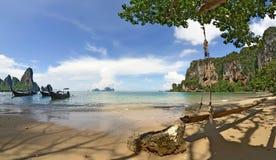 Panorama von Tonsai-Strand zwischen Railay und AO Nang stockfoto