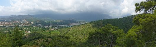 Panorama von torros mountines Stockfotos