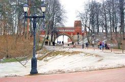 Panorama von Tsaritsyno-Park in Moskau Stockfotografie