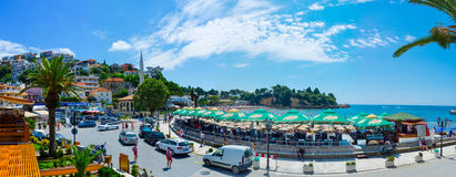 Panorama von Ulcinj Lizenzfreies Stockbild