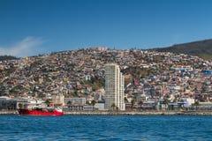 Panorama von Valparaiso Stockbild