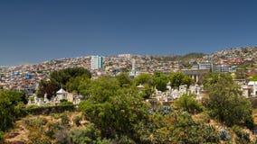 Panorama von Valparaiso Stockfotografie