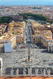 Panorama von Vatican und von Rom Lizenzfreie Stockfotos