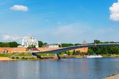 Panorama von Veliky Novgorod Stockfotografie