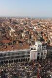 Panorama von Venedig, Italien, mit dem St- Mark` s Quadrat-Marktplatz San Marco Lizenzfreies Stockbild