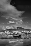 Panorama von Vesuv-b&w Lizenzfreie Stockfotografie