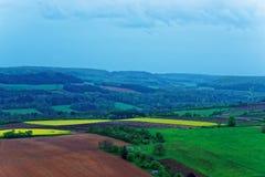 Panorama von Vezelay an Region des Burgunds Franche Comte in Frankreich Lizenzfreies Stockbild