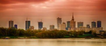 Panorama von Warschau lizenzfreie stockfotografie